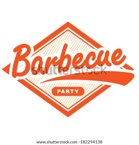 Barbecue vintage stamp. - stock vector