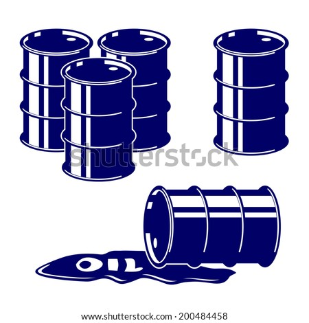 Barrel oil icon  set symbol vector  illustration - stock vector