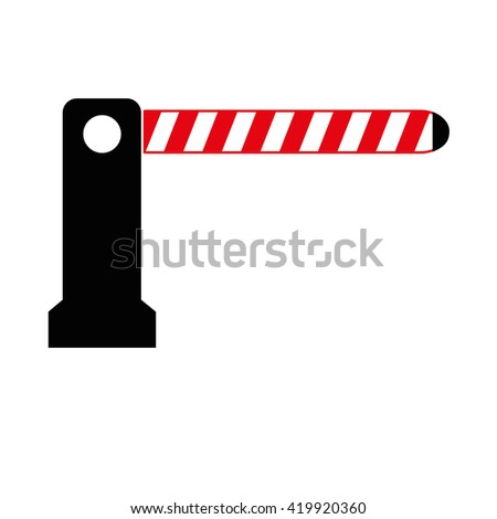 barrier vector illustration isolated on white background