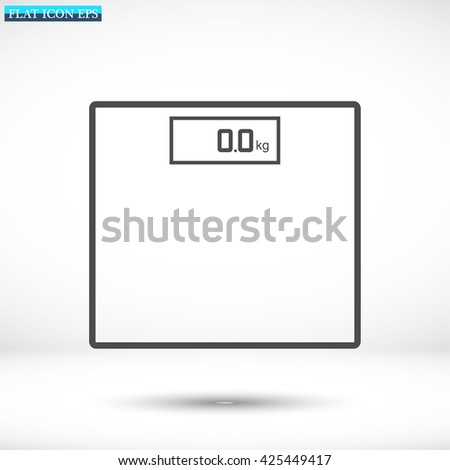 bathroom scales  icon. Vector  Eps 10