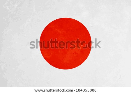 beautiful grunge textured flag design of Japan. vector illustration