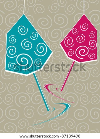 beautiful illustration for new year 2012 - stock vector