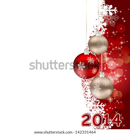 2014 beauty Christmas and New Year background. - stock vector
