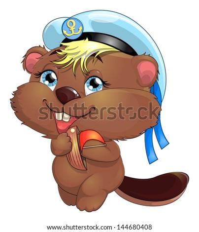 beaver - stock vector
