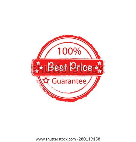 100% best price guarantee vector stamp - stock vector