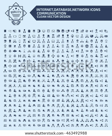 Big icon set,network and technology icon set,clean vector