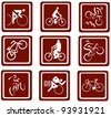Bikes icons. - stock vector