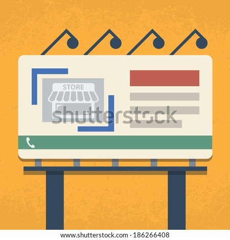 Billboard Flat design - stock vector