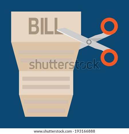 bills cutting - stock vector