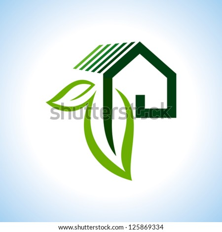 BIO GREEN HOUSES ICONS - stock vector