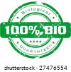 100% Bio stamp VECTOR - stock vector