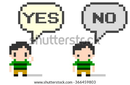 "8-bit Art ""Yes, No"""