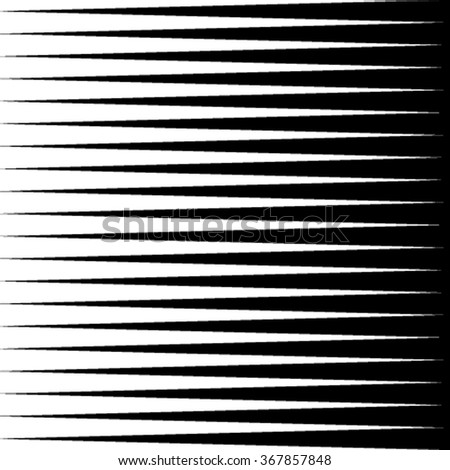Black-and-white pattern of triangles. Geometric pattern. Abstraction. Vector - stock vector