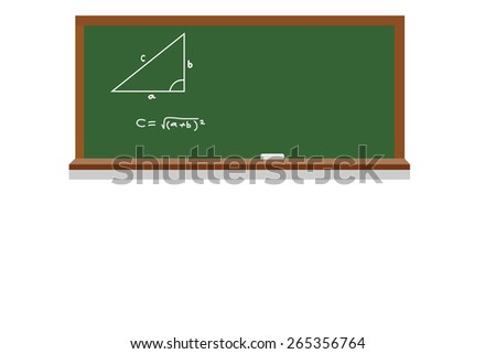 Black chalk board texture empty blank with chalk traces and wooden frame - stock vector