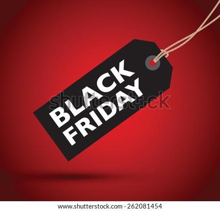 black friday sign - stock vector