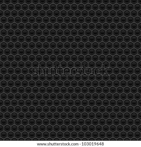 Black rubber texture. Seamless vector - stock vector
