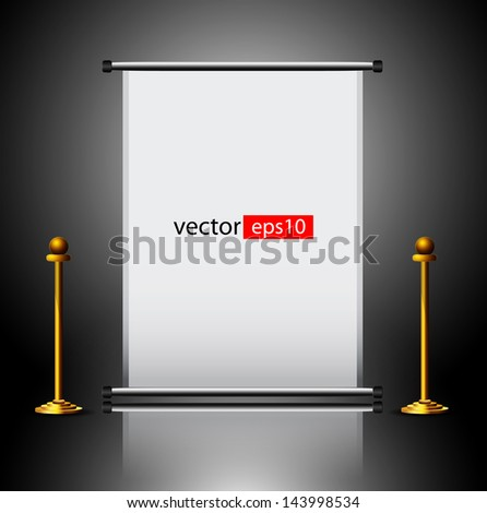 blank roll up banner - stock vector