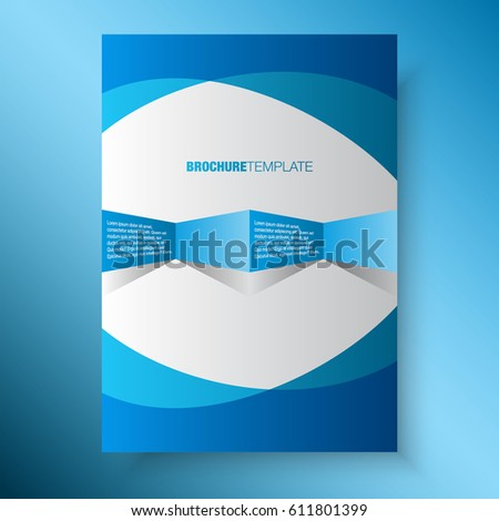 Blue business annual report template print stock vector 611801399 blue business annual report template for print ad wajeb Gallery