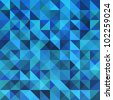 Blue seamless triangle abstract pattern. Vector illustration - stock photo