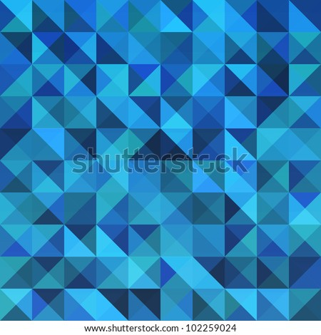 Blue seamless triangle abstract pattern. Vector illustration - stock vector
