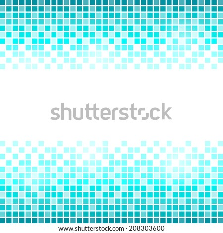 Blue square abstract background - stock vector