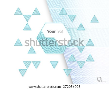 Blue Triangles and Hexagon Place Holder Elements for Your Beautiful Page Design - stock vector