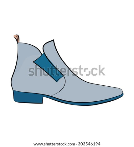Boot Colored Sketchy Vector Icon  - stock vector