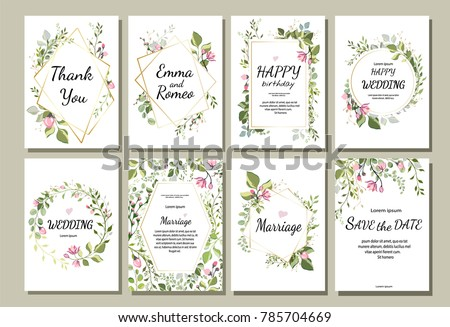 Botanic card wild flowers leaves spring stock vector hd royalty botanic card with wild flowers leaves spring ornament concept floral poster invite stopboris Images