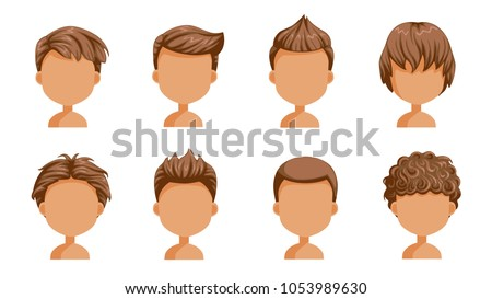 Boy Hair Set Face Of A Little Cute HairstyleVariety Child Modern