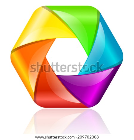Bright colorful shape  - stock vector
