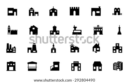 Building Vector Icons 5  - stock vector
