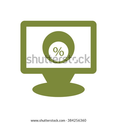 Business and finance icon percentage icon, vector illustration. Flat design style.