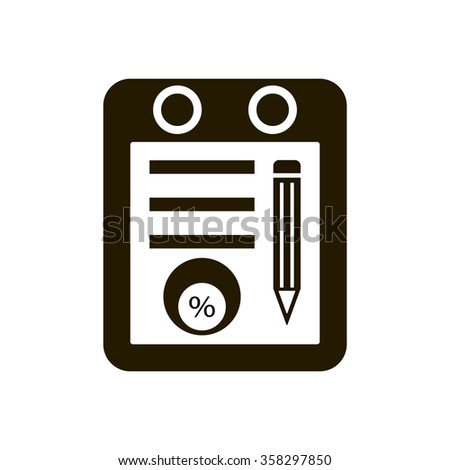 Business and finance icon percentage icon, vector illustration. Home icon JPG. Flat design style. - stock vector
