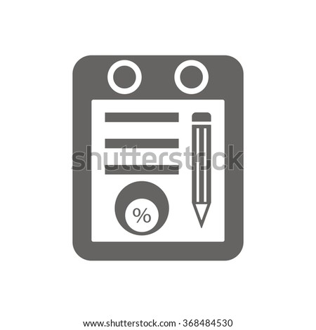 Business and finance icon percentage icon, vector illustration.Home icon vector illustration Flat design style. - stock vector
