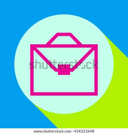 Business bag icon.Diplomat.Briefcase bag. - stock vector