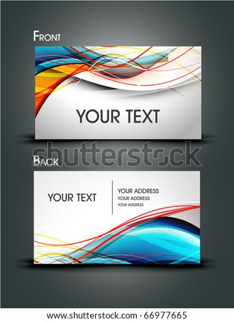 business card set elements for design. Eps10, vector illustration - stock vector