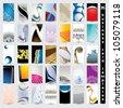 35 business card templates - vertical - stock