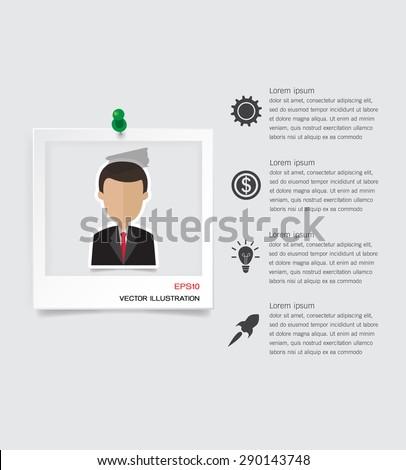 Business cv resume concept - stock vector