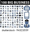1000 business icons set, vector - stock vector