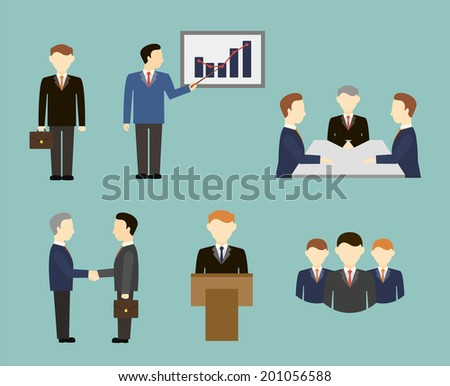 business people in flat style? - stock vector