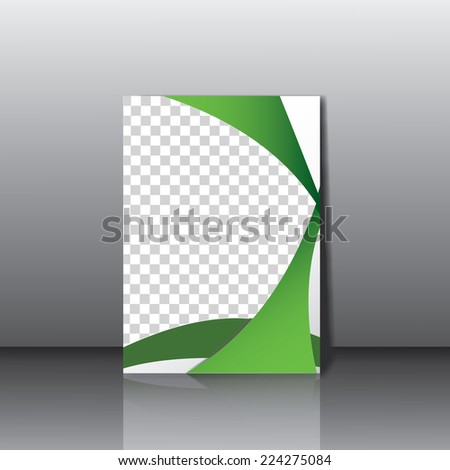 Business style corporate identity leterhead template- vector. - stock vector
