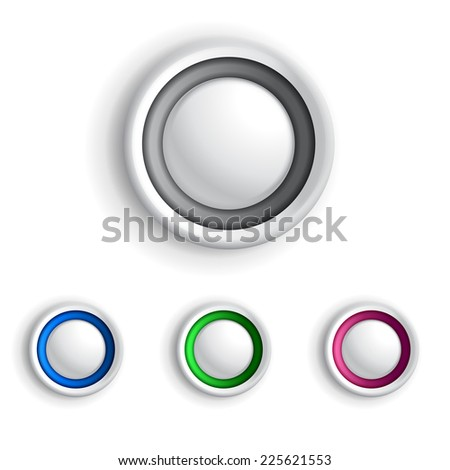 4 buttons in different color for your designs