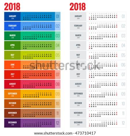 2018 Calendar.