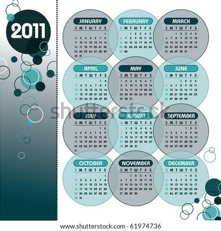 2011 Calendar - stock vector