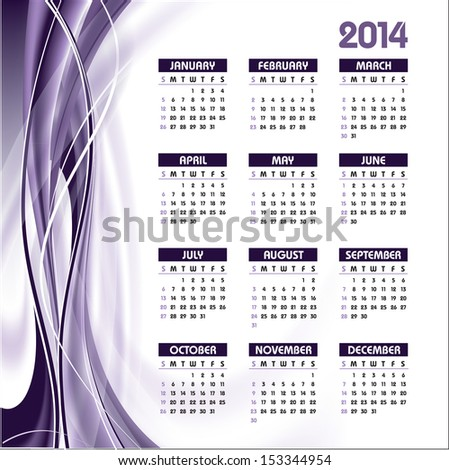 2014 Calendar. Abstract Background.