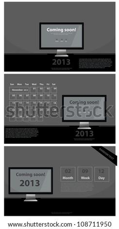 2013 (calendar and templates) vector - stock vector