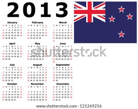 2013 calendar flag new zealand stock vector 121269256 shutterstock 2013 calendar flag new zealand saigontimesfo