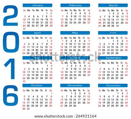 نتيجة عام 2016 , صور نتائج التقويم الميلادي calendar 2016