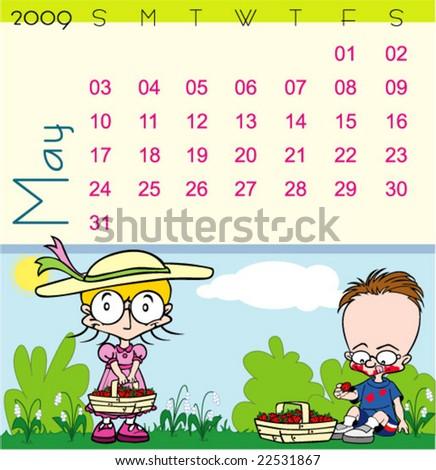 Children Calendar June 2017 Stock Vector 509403673 - Shutterstock