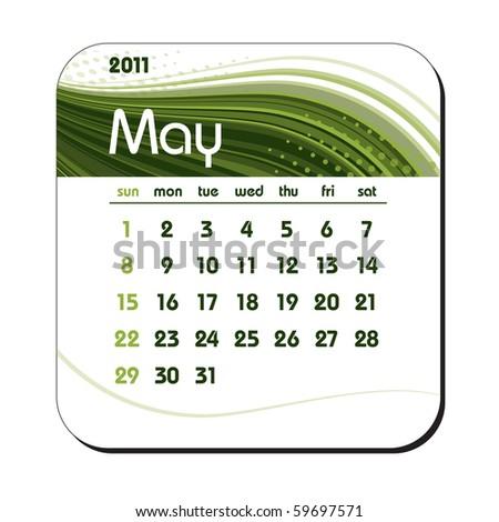 2011 Calendar. May. eps10. - stock vector